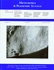 Cover image for Meteoritics & Planetary Science